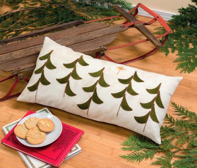 Celeb wool tree pillow