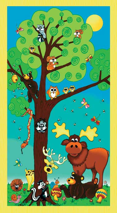 Forest friends panel rr